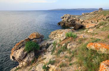 Rocky summer coastline