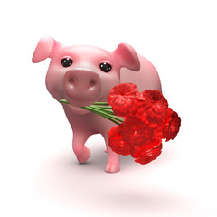 Romantic piglet