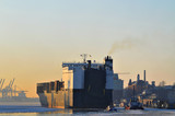 Winterstimmung im Hamburger Hafen - 21558776