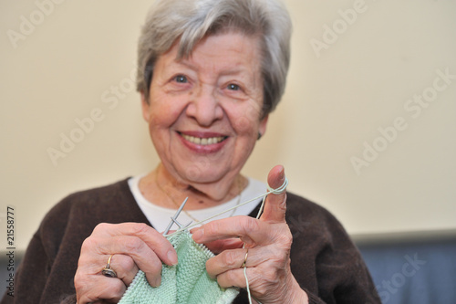 Senior Woman Knitting 8