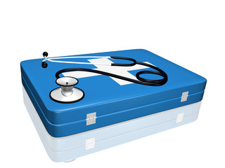 Stethoscope and Medical Kit