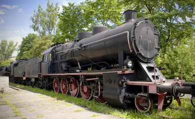 old steam polish rail engine