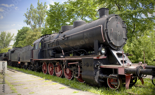 old steam polish rail engine