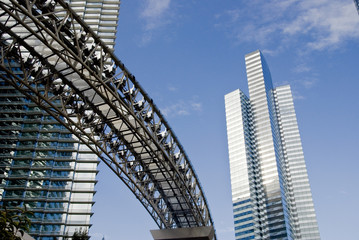 Skyscrapers and monorail