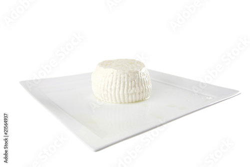 white cheese on plate