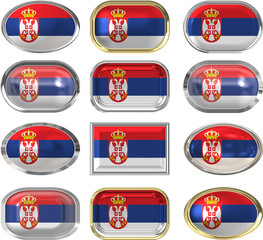 twelve buttons of the Flag of Serbia