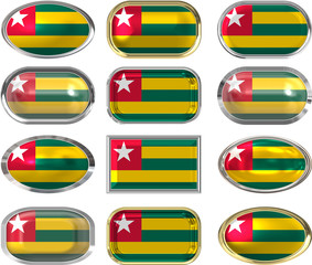 twelve buttons of the Flag of Togo