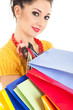Fashion woman with color packages