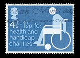 British stamp on behalf of health and handicap charities poster