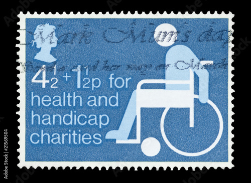 British stamp on behalf of health and handicap charities