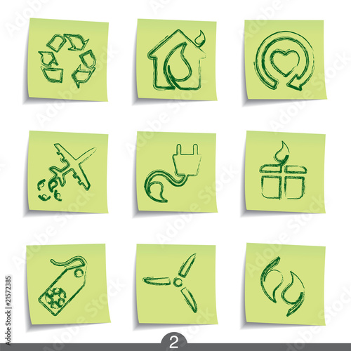 Post it icon series 2 - ecology