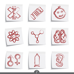 Post it icon series 7 - medical