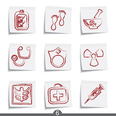 Post it icon series 6 - medical