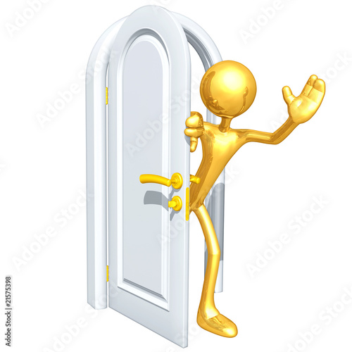 Gold Guy With A Door