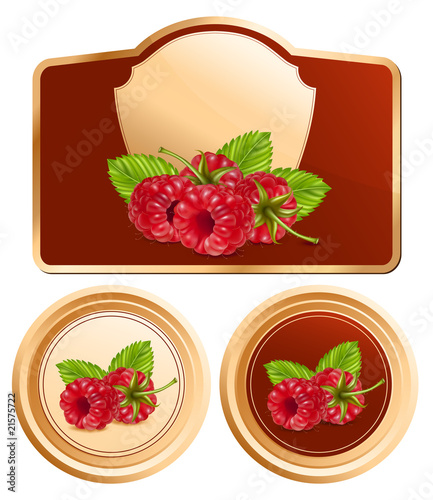 Background for design of packing jam jar. Raspberry.