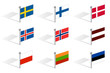 north and scandinavia europe flags vector