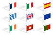 south and uk europe flags of countries
