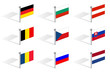 mid europe flags of countries vector
