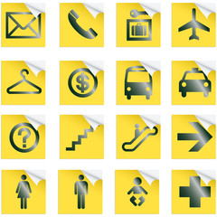 Airport and Travel Icons, Vector File pictogram