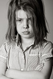 Powerful Black and White Shot of a Young Bullied Schoolgirl poster