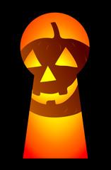 key hole and halloween