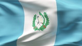 Creased Guatemala flag in wind in slow motion poster