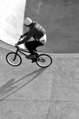 BMX biker schwarz weiß