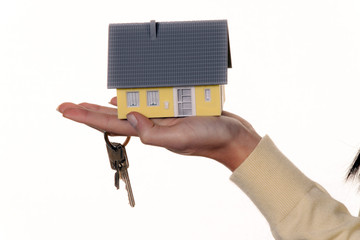 Keys and property after buying a house