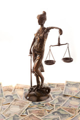 Justice and the yen. Icon for legal costs