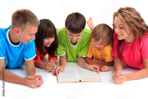 Siblings Reading Book