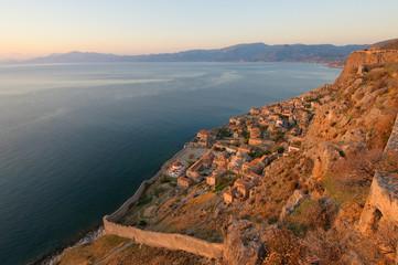 Medieval walled town of Monemvasia, Greece