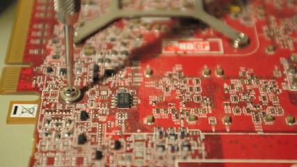 devisser un composant informatique electronique