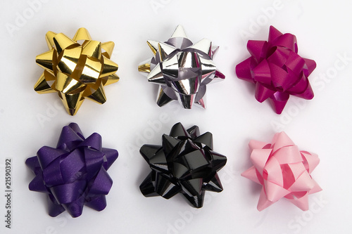 colored gift bows