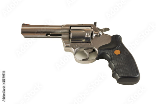 Magnum revolver isolated on white