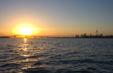 Auckland City and Harbour Sunrise
