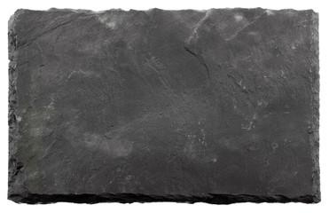 plaque rectangulaire ardoise naturelle, fond blanc