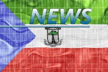 Flag of Equatorial Guinea wavy news