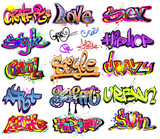 Graffiti vector background collection. Hip-hop design