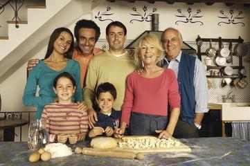 la famiglia e la pasta