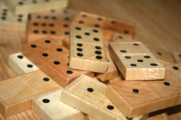wooden domino pieces
