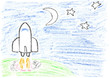 Space mission - child drawing
