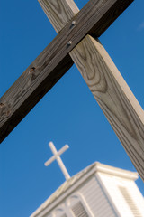 Crucifix and Blue Sky