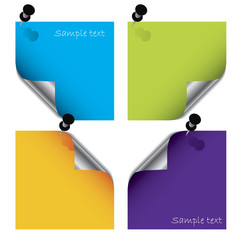 Colorful post its