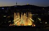 Montjuic Magic fountain, Barcelona poster
