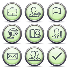 Icons with green buttons 1