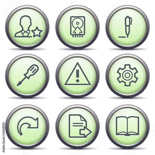 Icons with green buttons 7