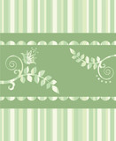 Eco greeting card or seamless repetitive border poster