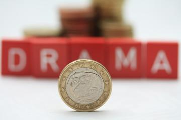 Greek euro coin - a greek tragedy