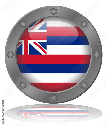State of Hawaii Flag Web Button (Hawaiian USA America Vector)
