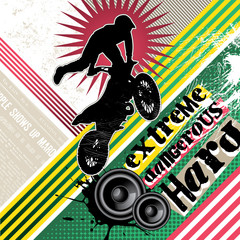 Designed extreme motorcycling banner